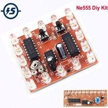 Piscando luzes kit diy estroboscópio ne555 + cd4017 prática eletrônica kits de aprendizagem suíte peças fluxo água luz led módulo