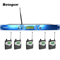 Betagear BT5101 5 Receiver monitoring system personal monitor wireless system UHF transmitter dj equipments stage,concert,studio