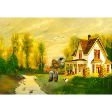 House Scenic Decorative Full Square Drill 5D Diamond Painting Forest Full Round Drill Home Decoration Embroidery Cross Stitch full house