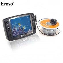 Eyoyo 1000TVL подводный лед видео рыболовная камера рыболокатор 15 м кабель 3,5 ''цветной ЖК-монитор