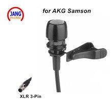 المهنية مكثف ميكروفون التلبيب الارسال Microfone ل AKG شمشون الخ ميكروفون لاسلكي نظام البسيطة XLR 3pin