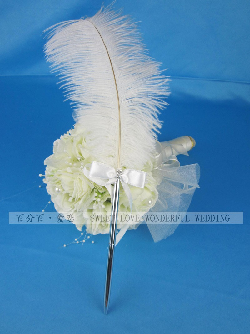 Ballpoint pen wedding party birthday gift feather pen ostrich wool pen for wedding ballpoint pen feather pen ostrich pen -