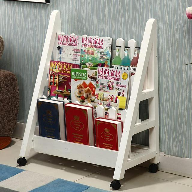Lovely Magazine Racks Office Furniture Home Commercial Furniture Three Size Solid  Wood Bookcase Magazine Rack Can Customize