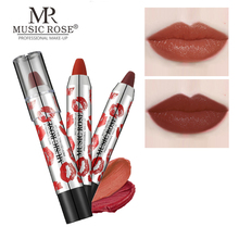 MUSIC ROSE 24 Colors Matte Lipsticks Waterproof Magic Lipstick Lip Sticks Cosmetic Easy to Wear Batom Makeup