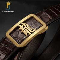 FAJARINA Top Quality Crocodile Skin Belts Chinese Character Dragon Stainless Steel Automatic Formal Belt Men Luxury Pack EYFJ20