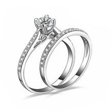 Stříbrné krásné prsteny pro ženy se zirkony