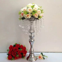 Crystal wedding decorations table centerpiece flower stand event road lead wedding pillar