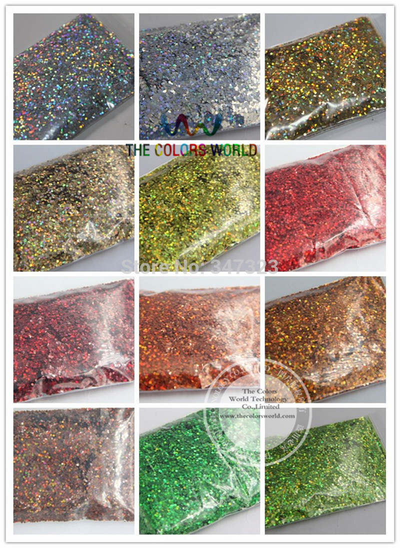 1.5MM 060 24 Holographic Laser glitter colors dust for nail tattoo Art or other DIY decoration 1pack=1200g бодиарт other 24