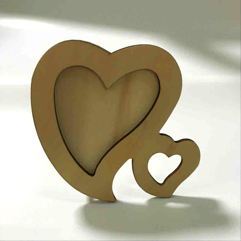 creative double heart wooden foldable picture hanging decorative banquet frameschina mainland