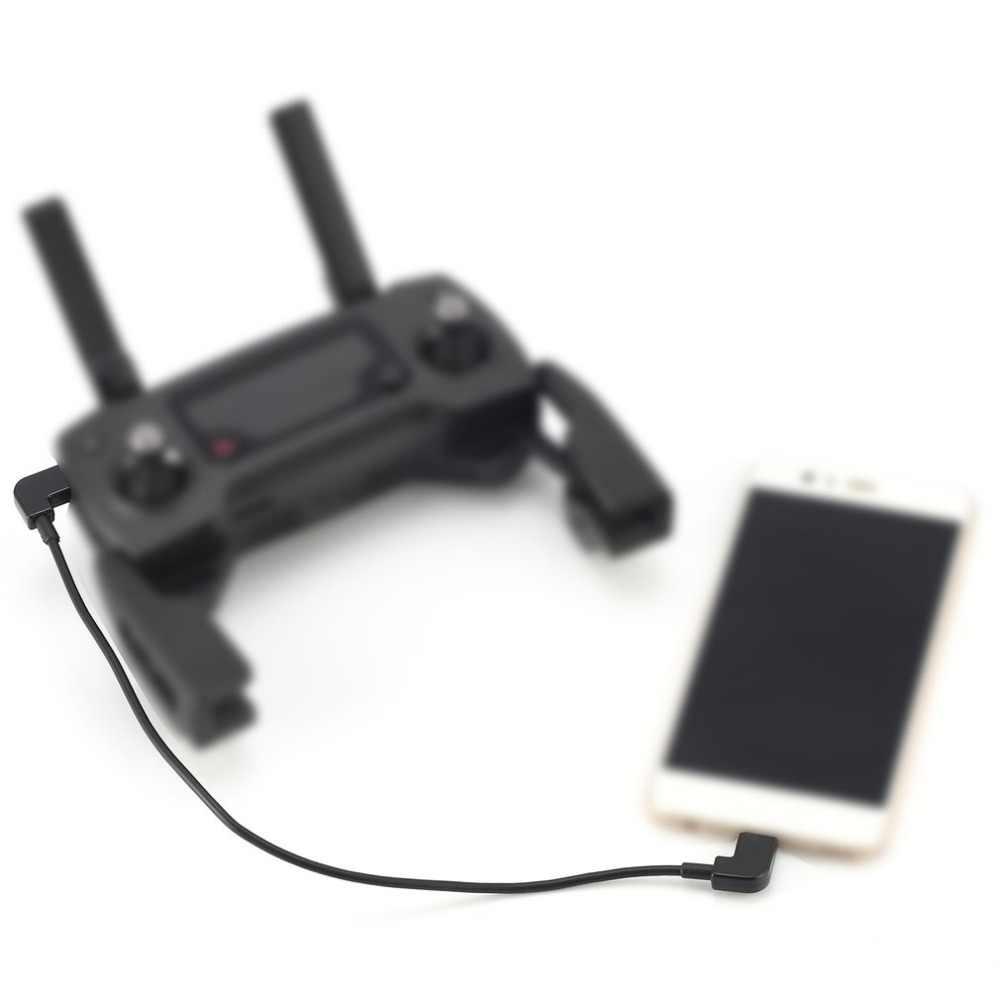 Cable de datos para DJI Spark Mavic Pro de Control de aire Micro USB a Micro USB línea de adaptador para Android Samsung Huawei tableta del teléfono