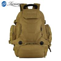 HOT new military backpack male 40 l waterproof bag backpack tourist camouflage bag wear resisting Laptop bag girl