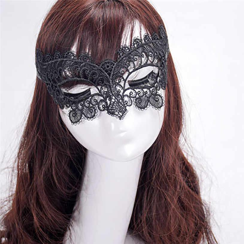 2018 1 шт. кружевная Маскарадная маска женщины-кошки, для Хэллоуина черные замшевые туфли с вырезом для выпускного вечера вечерние маска аксессуары абсолютно новый и качественный # YU5670