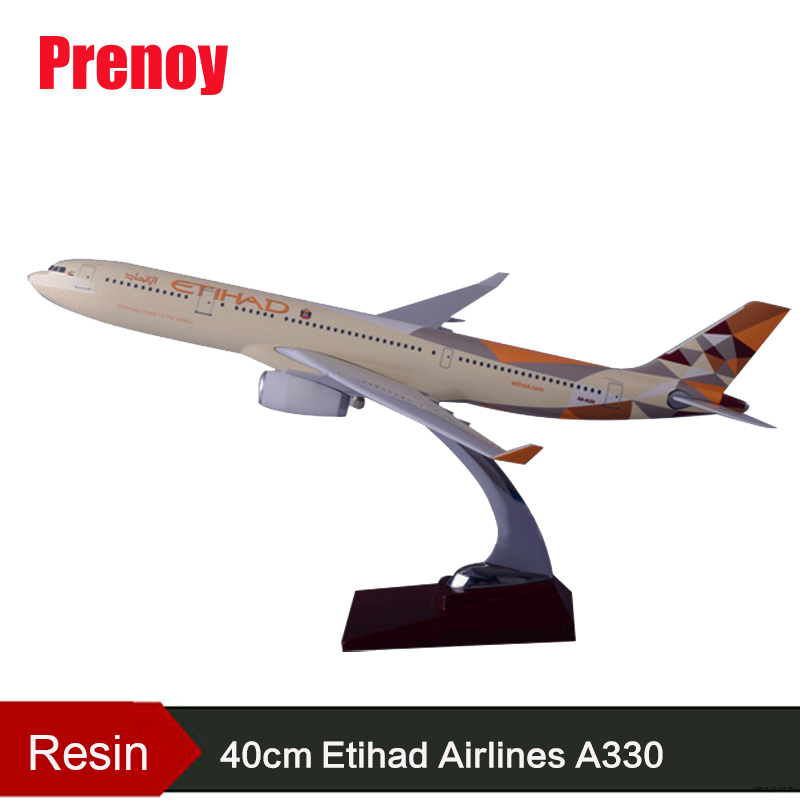 40cm Resin Etihad A330 Aircraft Plane Model Airbus Etihad Airline Airway Model Aircraft Aviation Airplane Model Collect Gift Toy 1 400 jinair 777 200er hogan korea kim aircraft model