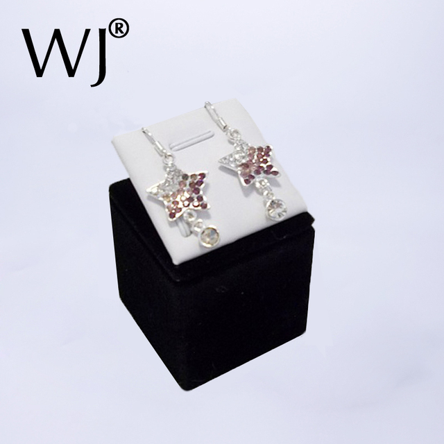 Portable Jewelry Earring Display Stand Studs Colliers Holder Pendant Organizer Case For Jewellery Counter