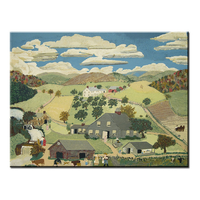 dp artisan cloud valley anna mary robertson grandma moses wall painting print canvas home decor oil