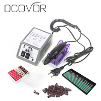 Electric Nail Art Drill Manicure Set File Grey Nail Pen Machine Set Kit With EU Plug