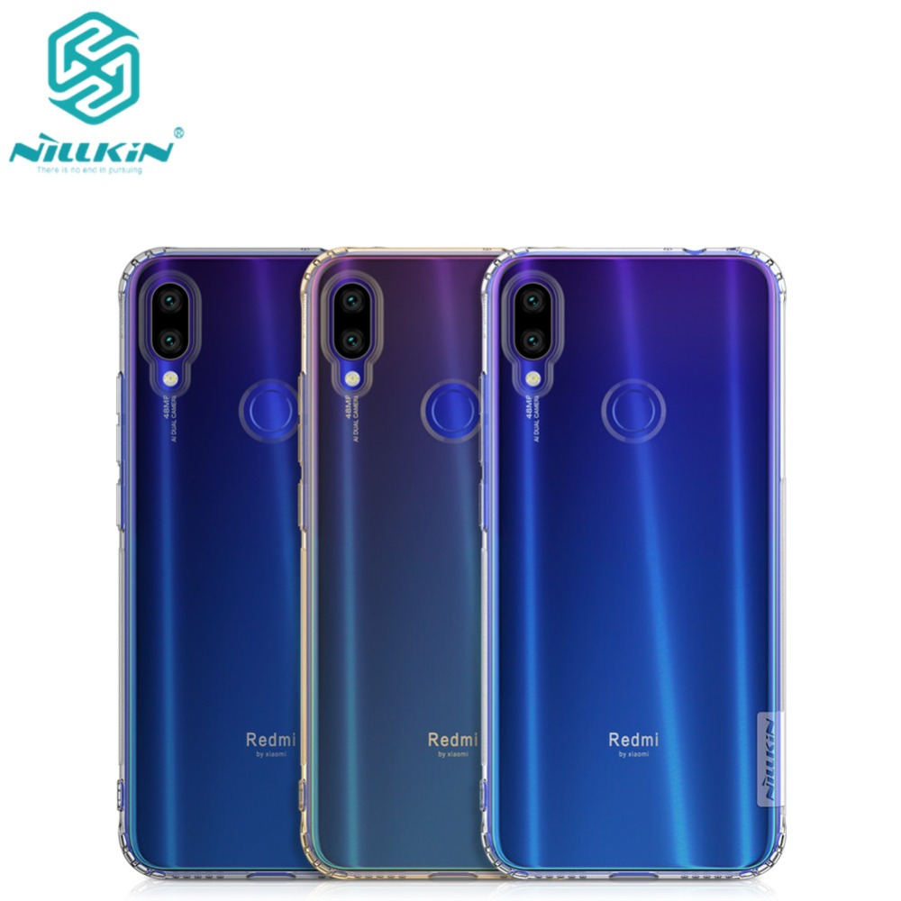 10pcs lot NILLKIN Ultra Thin Transparent Nature TPU Case For Xiaomi Redmi Note 7 TPU Hard