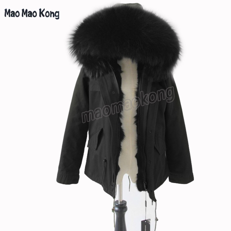 Free EMS  DHL 2017 Army Green Parka Coats Real Large Raccoon Fur Collar 100% naturl Fox Fur Lining Hooded Outwear графин tomic 1jst9127