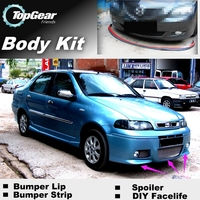 Bumper Lip Deflector Lips For Fiat Siena / Albea / Petra / Pyeonghwa Hwiparam Front Spoiler Skirt For TopGear / Body Kit / Strip