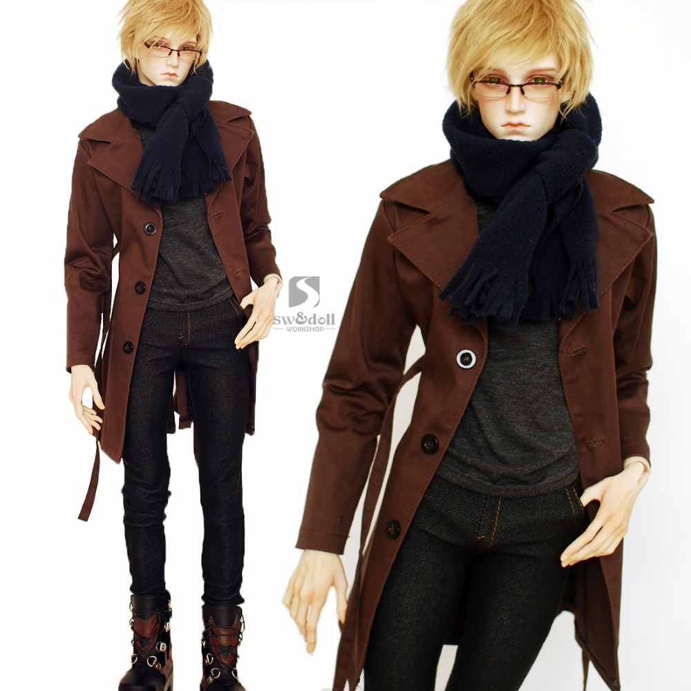 1/3 1/4 scale BJD clothes coat+jeans outfit doll accessories for BJD/SD.Not included doll,shoes and other accessories 16C0644 1 3rd scale 65cm bjd nude doll bazael bjd sd doll boy with face up not included clothes wig shoes and accessories