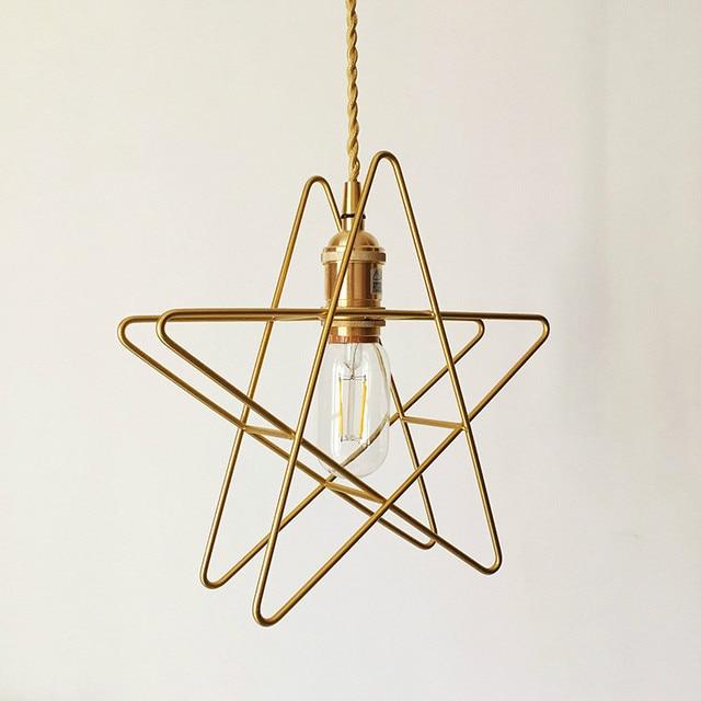 Nordique unique tête suspendus luminaire lampe pendentif en or ...