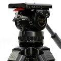 TRIX TS150 Câmara De Vídeo Profissional Cabeça do Tripé Fluido Cabeça Carga 15 KG para Filmadora câmera de Filme