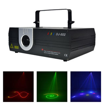 1W RGB Full Coler DMX ILDA Animation Scan Effect Projector Laser Lighting DJ Party Profession Moving Ray Show Stage Light DJ-502
