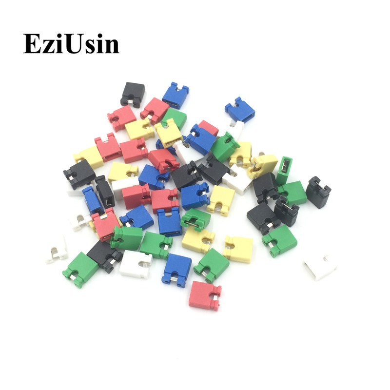 EziUsin Colorful Pin Header Standard Computer Jumper Blocks Connector 2.54 Mm 3 1/2 Hard Disk  Drive Motherboard Expansion Card