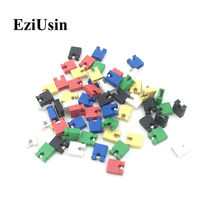 EziUsin Colorful Pin Header Standard Computer Jumper Blocks Connector 2.54 mm 3 1/2 Hard Disk Drive Motherboard Expansion Card(China)