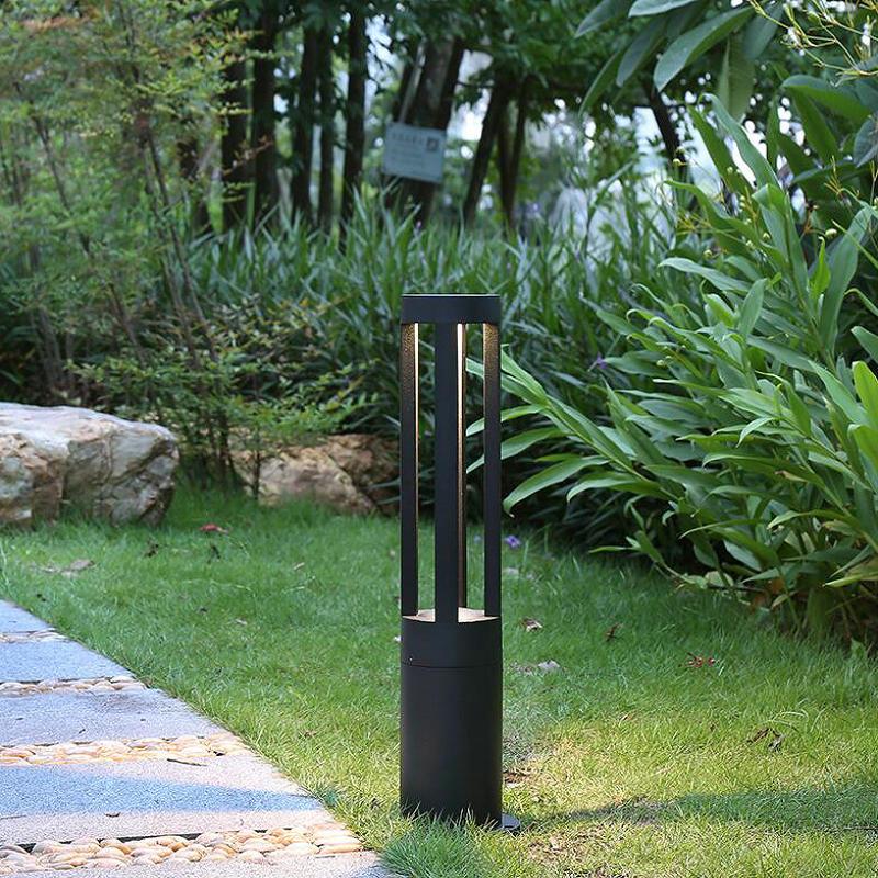 Extérieur 15 W LED pelouse lampe jardin Strawhat ampoule LED route cour solaire lumière noir gris rue chaude éclairage lampe couloir