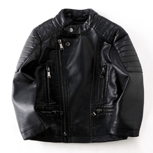 Kids Leather Jackets Brand Advanced PU Imitation Coat Fashion  Jacket Girls Boys Soft Unique Outwear (3-12Yrs)