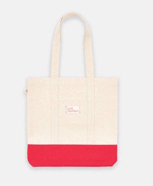 af0dc3dfca16 KPOP BTS Bangtan Boys LOVE YOURSELF WORLD TOUR Bag Concert Handbag Canvas  Shoulder Bag Shopping Bag New