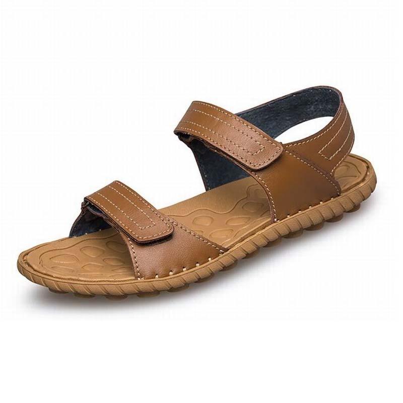 Brand Summer Fashion Men Sandals,High Quality Genuine Leather Sandals Men,Fashion Men Beach Sandals Sandalias Big Size 45 46 47