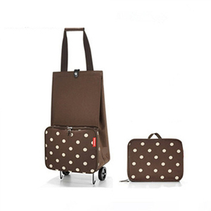 Image 2 - 2019 New Folding Shopping Bag Shopping Cart Small Pull Cart Women Buy Vegetables Bag Wheels Bags Shopping Organizer Package bag