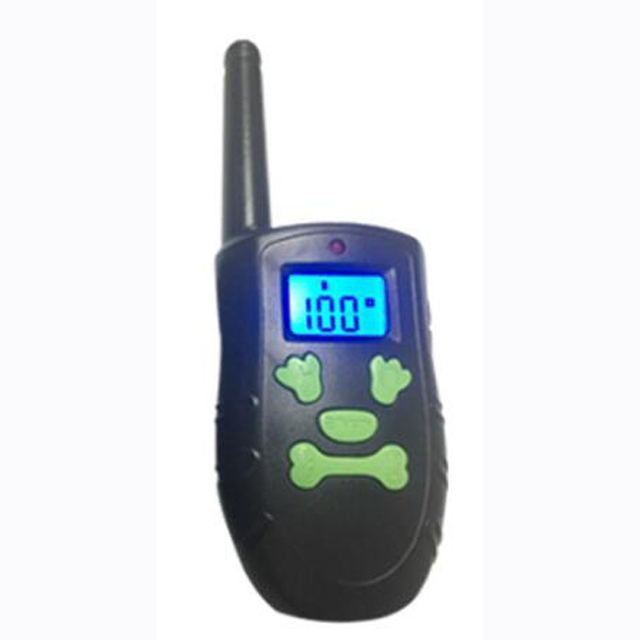 PT183 Dog Training Collar 300m/330 Yard Electronic Device Skull Button Keys BLue LCD with Safe Beep Vibration Shock for Dog