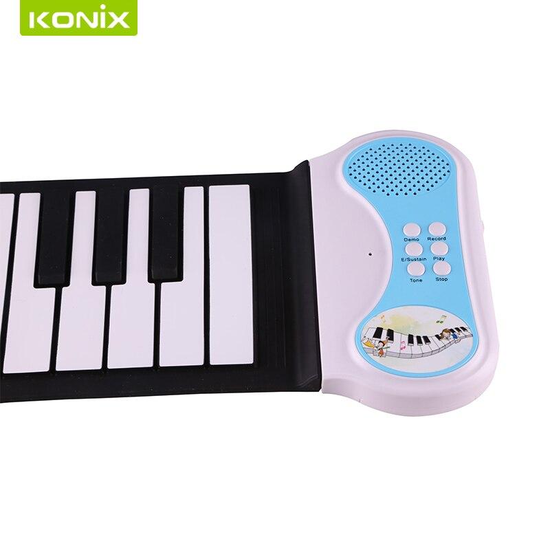 새로운 창조적 인 휴대용 무선 키보드 49 음악 애호가를위한 전자 피아노 키보드 장비 49의 열쇠 USB 미디 롤업