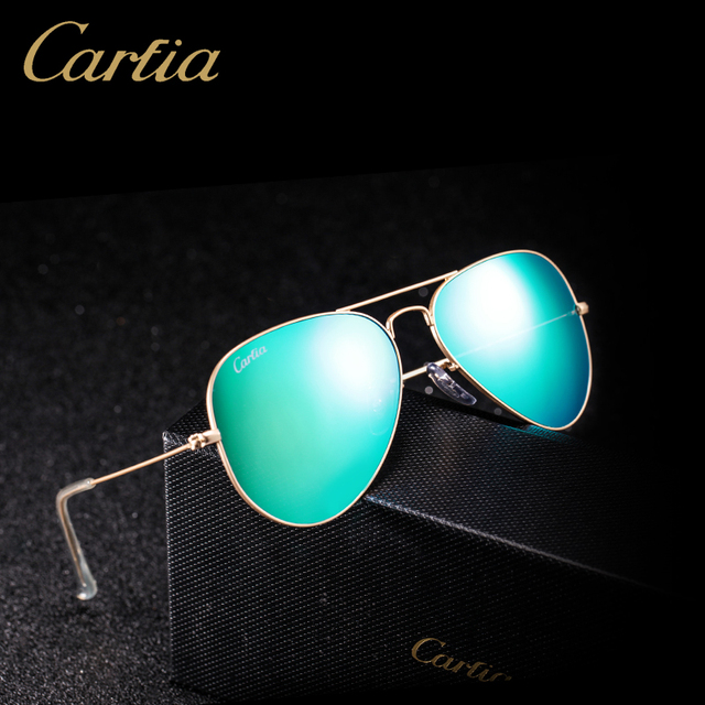25370e8f86 Carfia Aviator Sunglasses Classic Pilot Sun Glasses For Men Women Brand  Designer Blue Green Pink 100