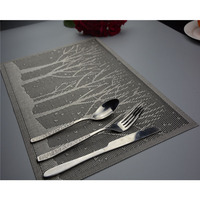 Muslim Style Thick PVC Insulation Table Pad Placemat Table Mat Doily Bowls Mat Washing Quick Drying