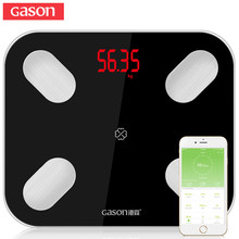 GASON S4 Body Fat Scale Floor Scientific Smart Electronic LED Digital Weight Bathroom Balance Bluetooth APP Android or IOS(China)