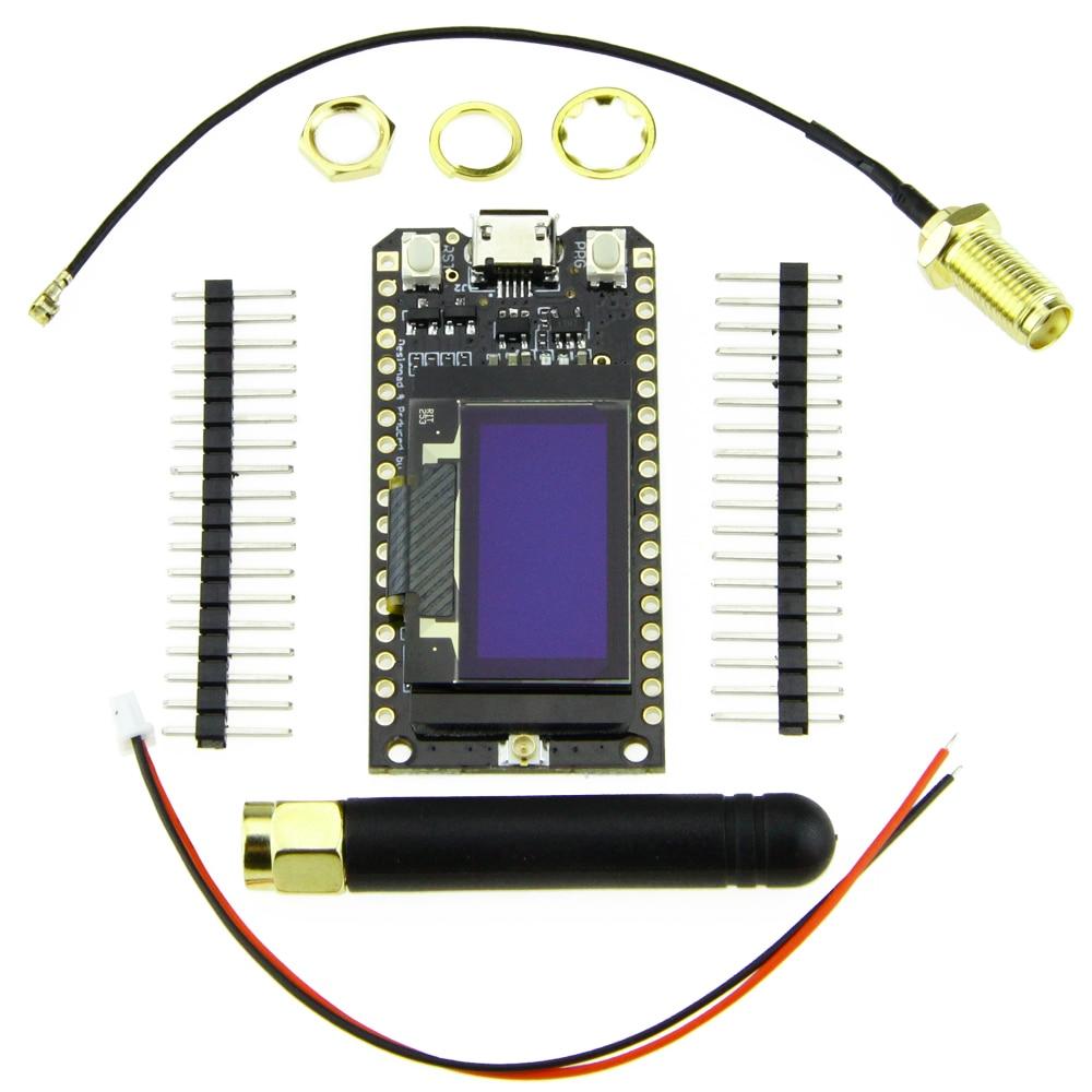 TTGO LORA32 868/915Mhz ESP32 LoRa OLED 0 96 Inch Display Bluetooth WIFI  ESP32 ESP-32 Module with Antenna