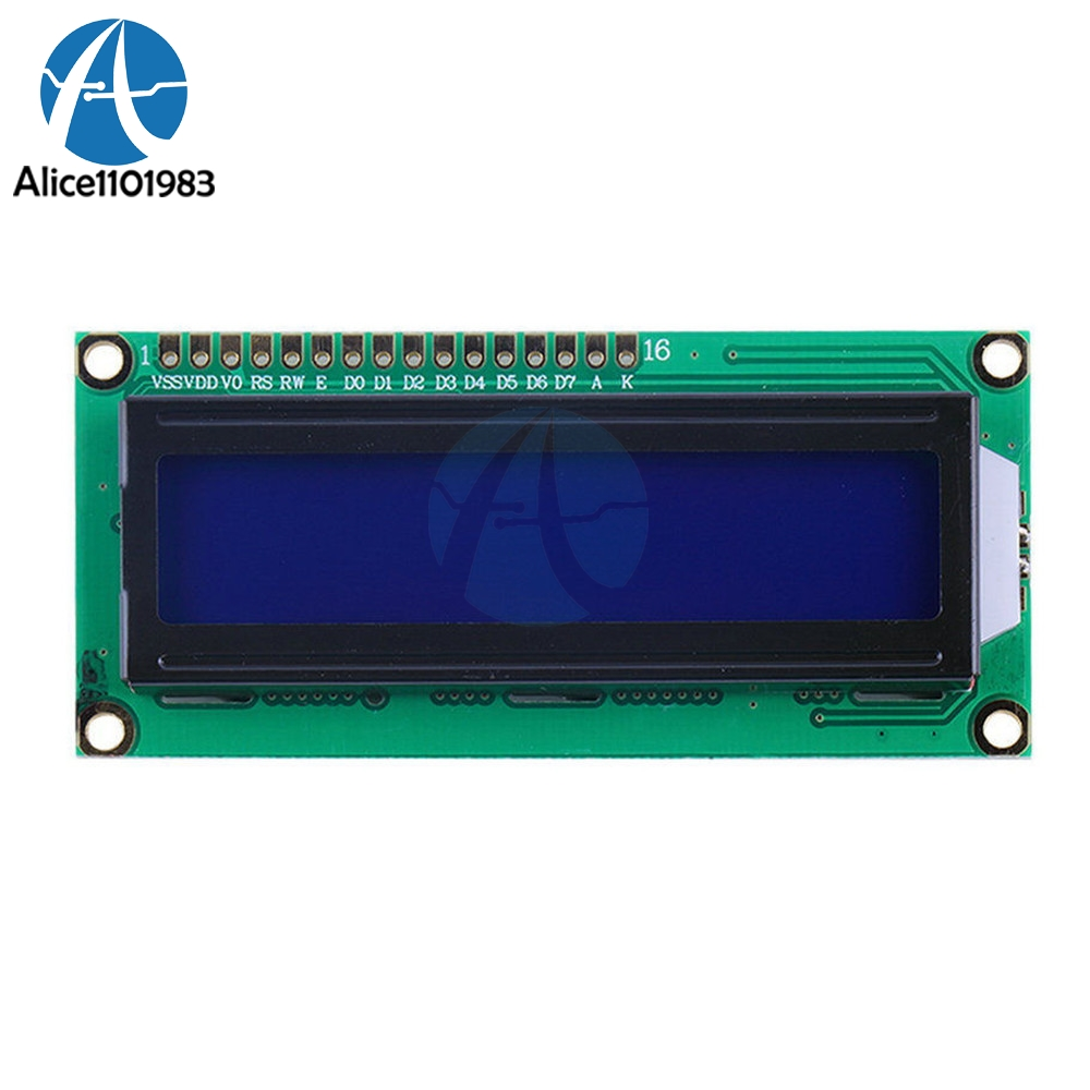 LCD1602 1602 Module Blue Screen Blue Blacklight 16x2 Character LCD Digital Display Module HD44780 Controller Control