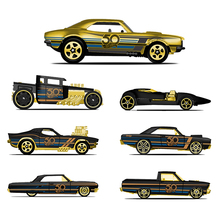 Hot Wheels Car Collectors Edition 50th Anniversary Black Gold Metal Diecast Cars Toys Vehicle For Children Juguetes FRN33