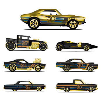 Hot Wheels Car collective Edition 50th Anniversary Black Gold Metal Diecast limited gift Toys Vehicle For Children Juguete FRN33