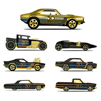Hot Wheels Car Collector's Edition 50th Anniversary Black Gold Metal Diecast Cars Toys Vehicle For Children Juguetes FRN33