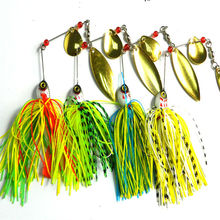1pc spinner bait 20.5G metal lure hard fishing lures Spinner Lure Spinnerbait Pike swivel Fish tackle wobbler Submerged Fluff
