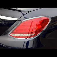 Für Mercedes Benz C Klasse 2019 ABS Chrom Auto Hinten Scheinwerfer Nebel Lampe Abdeckung Trimmt Auto Styling Auto Zubehör-in Chrom-Styling aus Kraftfahrzeuge und Motorräder bei