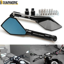 Italy Brand logo mark Motorcycle Rearview side Mirrors CNC Aluminum for Yamaha YZF R1/R125/R15/R1M/R25/R3/R6