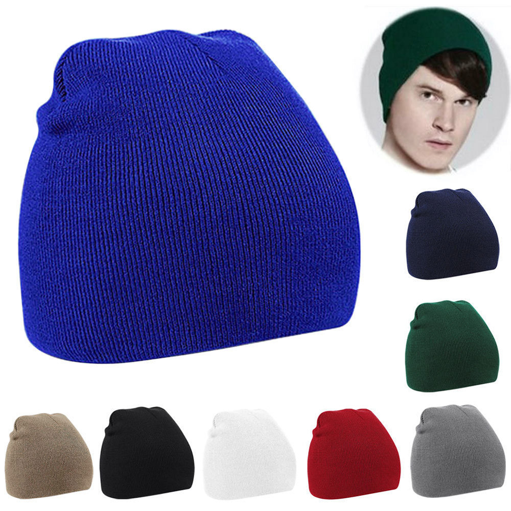 2016 Hot Sale Mens Winter Autumn Spring  ng Hat Beanie Baggy Warm Knitted Wool   Hip-Hop Cap Male Gorras #1129 rwby letter hot sale wool beanie female winter hat men