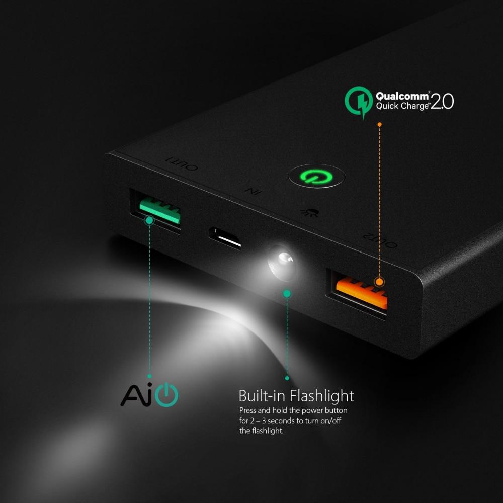 Внешний аккумулятор AUKEY, быстрая зарядка, 2,0, 16000 мА/ч, для rend Switch, iPhone X/8/Plus/7/6s, samsung S8 +, ipad, повербанк