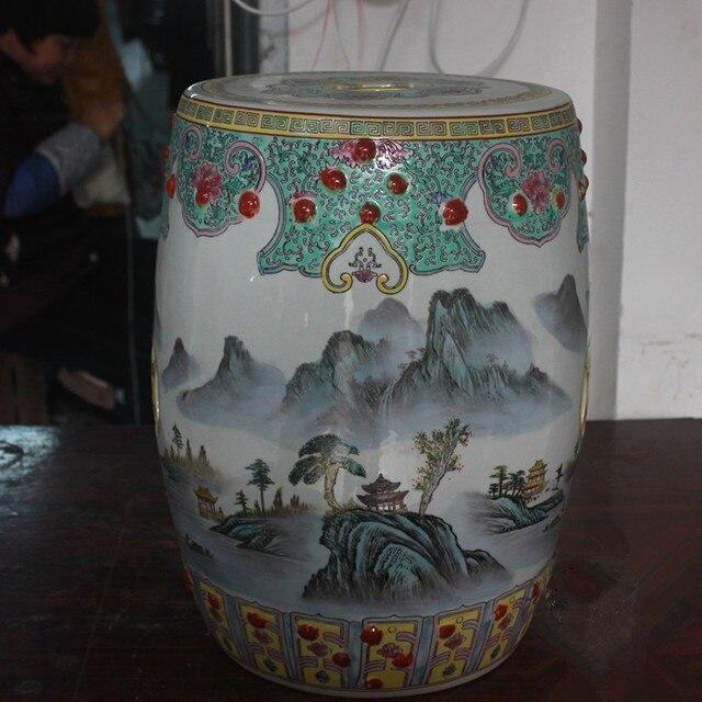 Jingdezhen Porcelain Garden Stool Ceramic Stool For Dressing Table